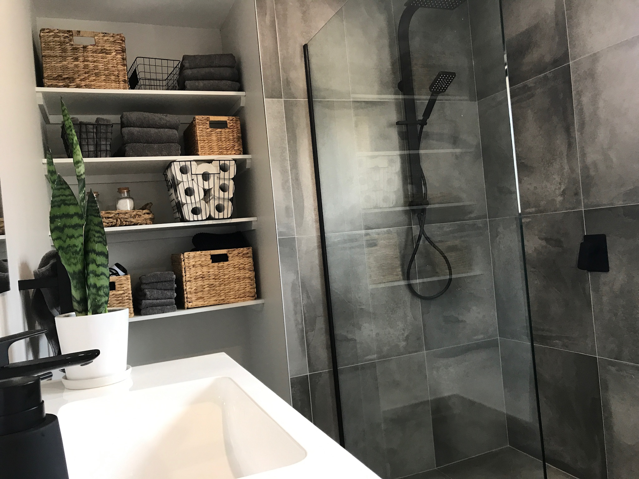 Slick and Modern in Milford Bathroom & Kitchen project photo